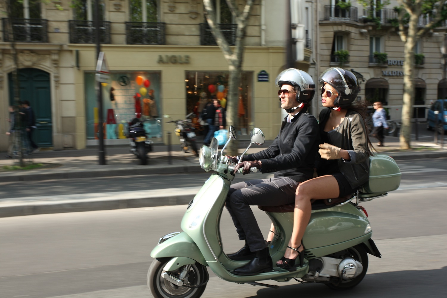 Vintage Paris on a Vespa