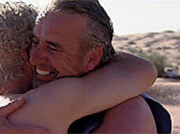 HUG LIFE Two Sahara trekkers come to the emotional rescue.