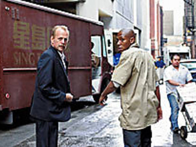 WALK THIS WAY Will Willis, left, and Mos Def ever make it to Chinatown?