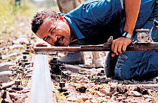 TRAINING DAY A Havana railroad repairman gets grounded.