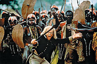 REBEL YELL Kinski leads his charges with a mighty roar.