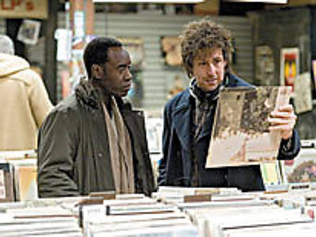 FOR THE RECORD Sandler, right, preaches the gospel of vinyl to Cheadle.