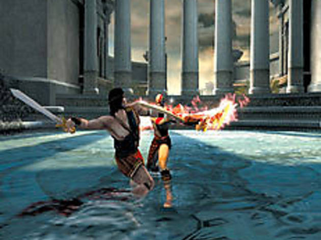 MYTHING IN ACTION Kratos and Perseus brawl for it all.