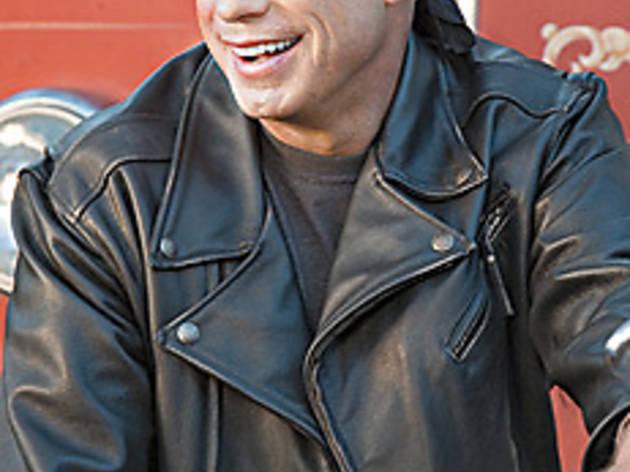 SWEAT HOG Travolta gets his motor running.