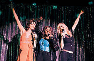 WILL WE SURVIVE? Moynahan, left, and Graham, right, sing of sisterhood with Gloria Gaynor.