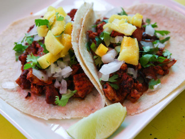 Al Pastor Taco At Tortilleria Nixtamalsome Of The Best Mexican Restaurants In Town Use Tortillas