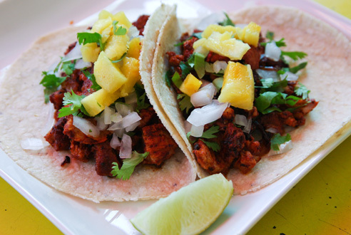 Al Pastor taco at Tortilleria NixtamalSome of the best Mexican restaurants in town use the tortillas made at this factory. Go straight to the source...