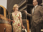 "Betty and Don Draper of ""Mad Men"""