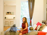 "When Jordana Shenkman moved into her 430-square-foot rental this March, she wasted no time getting settled. ""I actually put this entire thing together from nothing in one month's time,"" she says. Spurred by a small-space contest on design blog Apartment T"