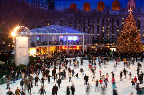 Ice skating in New York City this Christmas