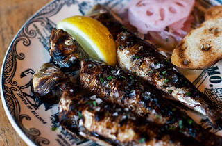 Grilled sardines at St. Anselm