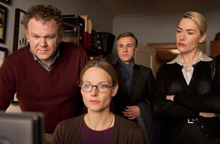 John C. Reilly, Jodie Foster, Christoph Waltz and Kate Winslet in Carnage