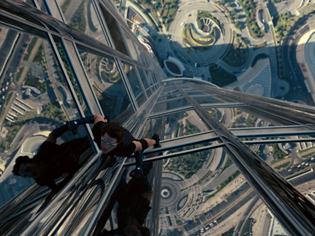 Tom Cruise in Mission: Impossible---Ghost Protocol