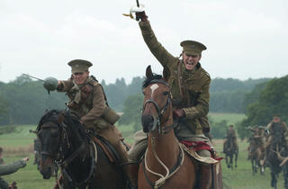 Tom Hiddleston, right, in War Horse