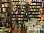 """""""Okay, this might sound lame, but seriously: the Strand [828 Broadway at 12th St; 212-473-1452, strandbooks.com]. It's really easy to strike up a conversation while you're browsing for books. And everyone there usually has some sense of style.""""---Liz Harr"""