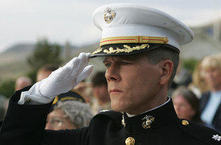 Bacon gives military funerals the white-glove treatment in Taking Chance.