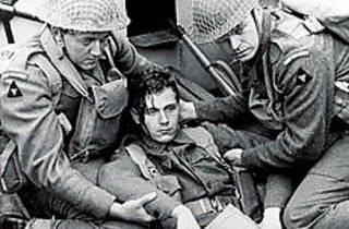 HEAD SHOT An unlucky soldier draws enemy fire