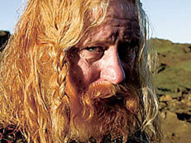CODE ORANGE Skarsgrd's hair may terrorize you.