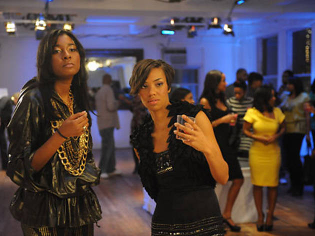 Reality-show stars Bridget and Briana strike a pose in Harlem Heights.
