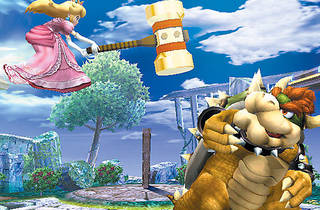 HAMMER TIME Peach handles Bowser herself for a change in Brawl.
