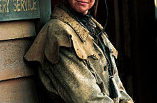 LEATHER QUEEN Robin Welgert as Calamity Jane.