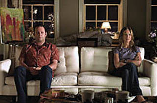 ON THE COUCH Vaughn and Aniston choose pouting over couples' therapy.