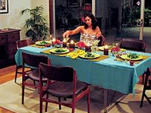 DINNER AT EIGHT Bell awaits the evening's final course.