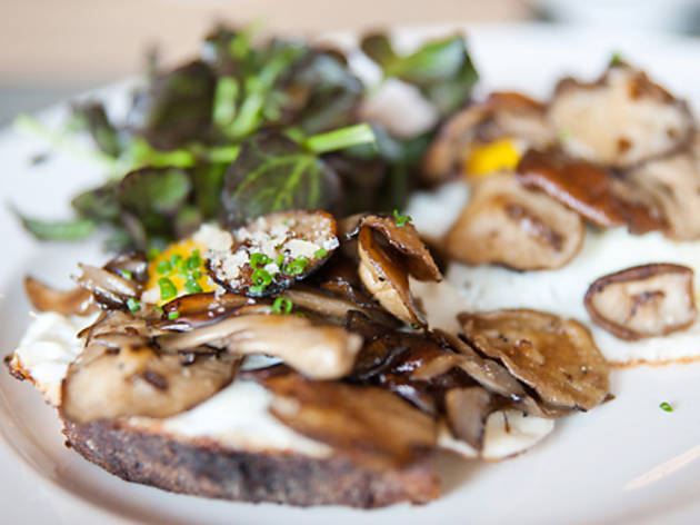 Mushroom egg toast with Parmesan cheese and herbs ($12)Colonie, 127 Atlantic...