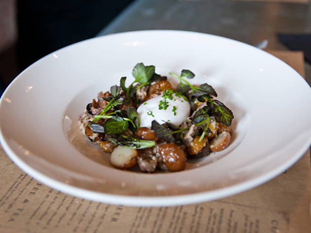 Duck hash with slow-poached egg and fingerling potatoes ($13)Colonie, 127...