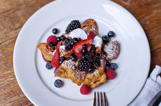Kaiserschmarrn: caramelized pancake bits with seasonal fruit ($14)Edi & the Wolf, 102 Ave C between 6th and 7th Sts (212-598-1040, ediandthewolf.com)