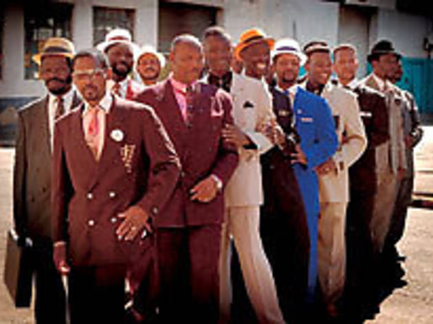 WELL-SUITED South African men compete to see who's the best dressed.
