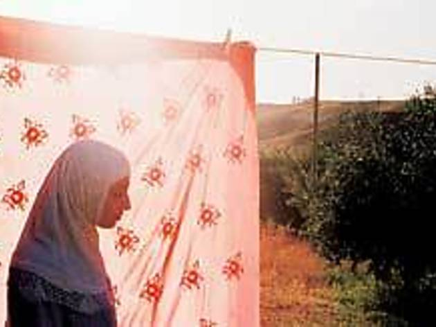 HUNG OUT TO DRY A Palestinian woman has no place to go.