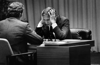 Bobby Fischer, right, in Bobby Fischer Against the World