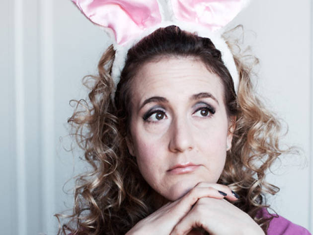 PLAYBILL BUNNY Jenn Harris takes audiences down comedic rabbit holes.