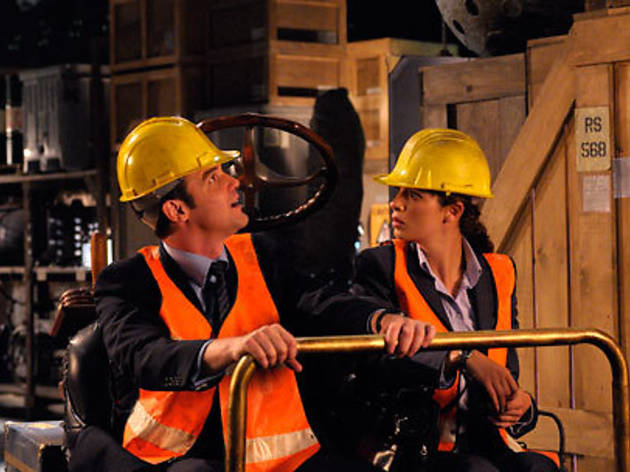 McClintok and Kelly do storage security in Warehouse 13.