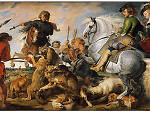 Peter Paul Rubens and workshop, Wolf and Fox Hunt (c. 1615–21)