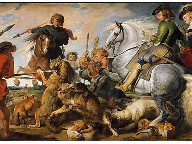 Peter Paul Rubens and workshop, Wolf and Fox Hunt (c. 1615-21)