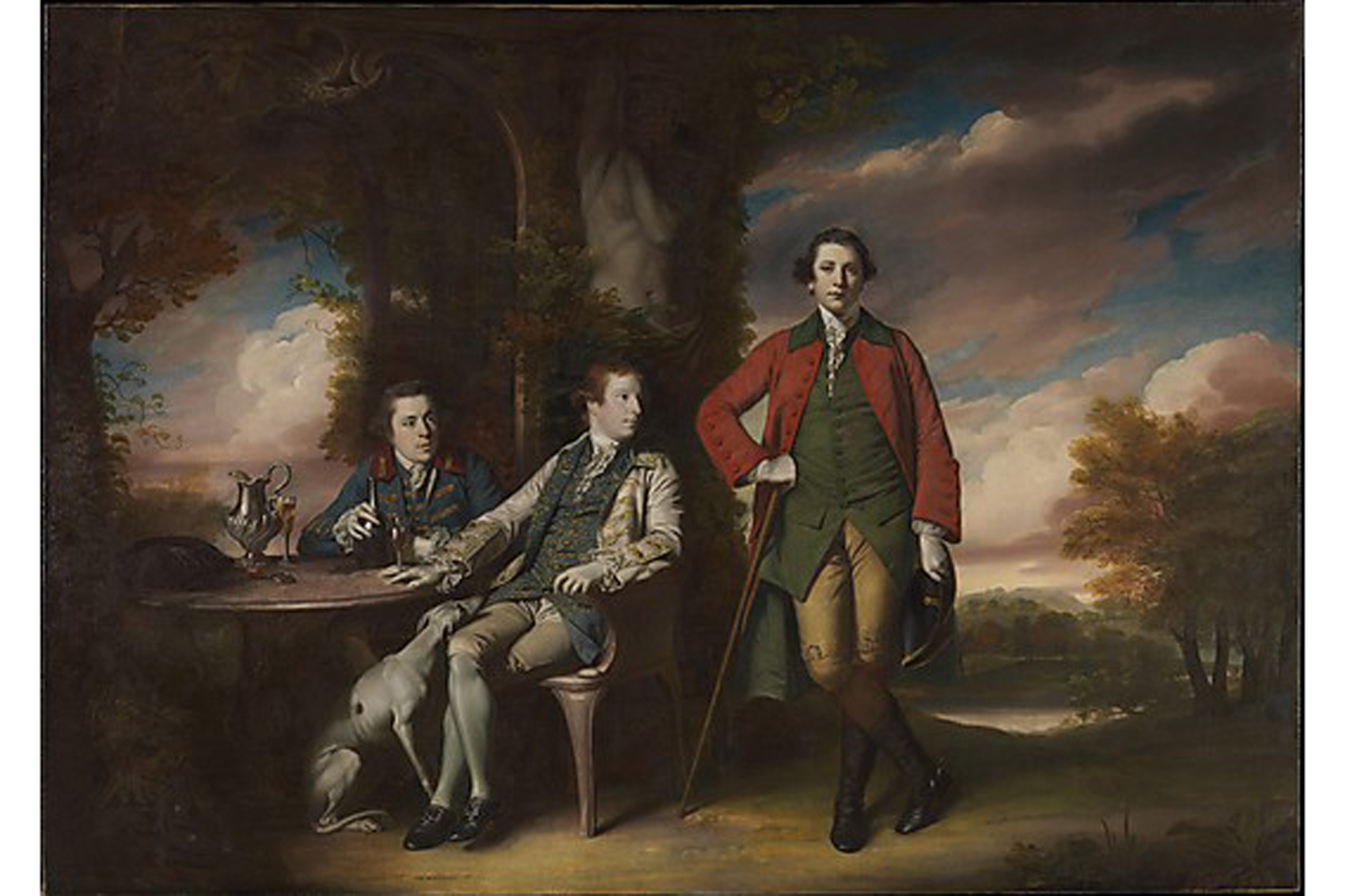 Sir Joshua Reynolds, The Honorable Henry Fane with Inigo Jones and Charles Blair (1761-66)