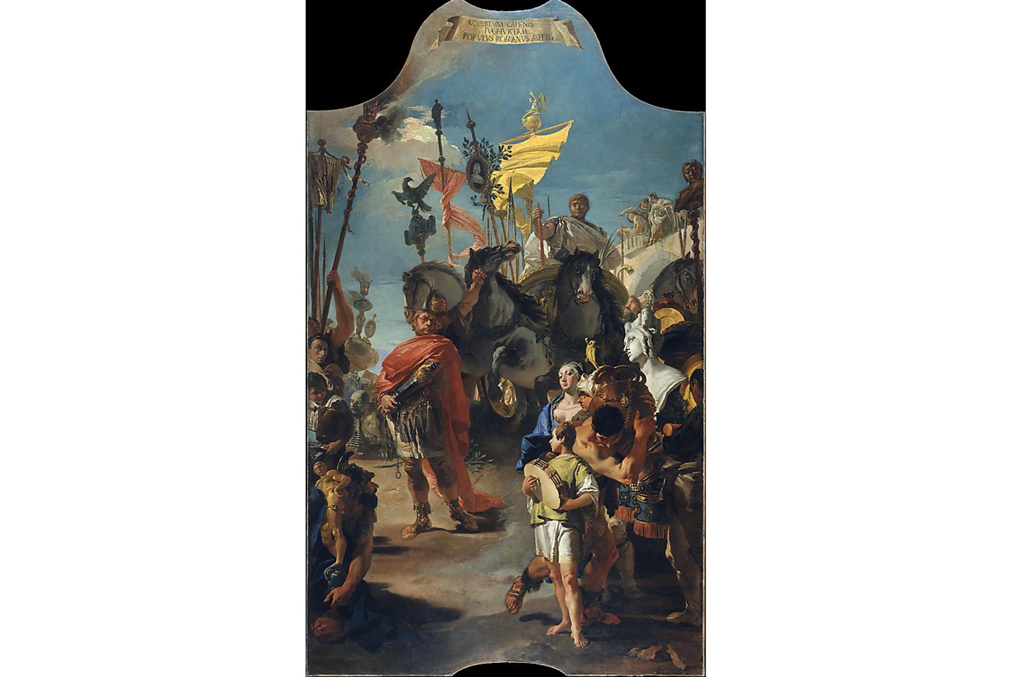 Giovanni battista tiepolo the triumph of marius 1729