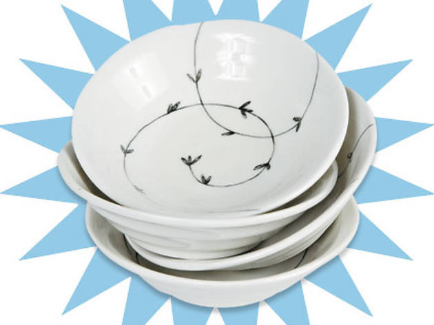 Set of four Miya Japanese ceramic bowls, $17 (originally $24), at Random Accessories