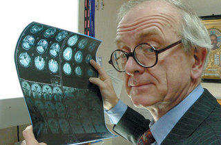MIND READER Marsh scours a patient's X-rays for abnormalities.