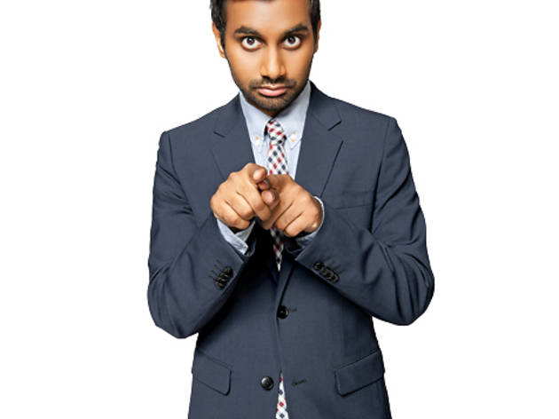 Aziz Ansari photographed in a suit & tie by Dale May, in New York City.