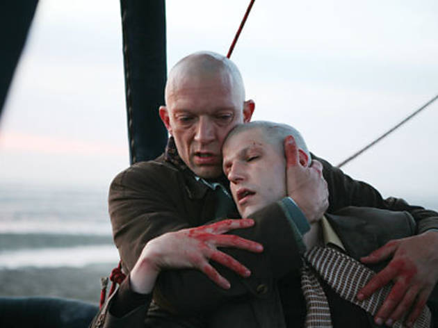 LOSE SHAVE Vincent Cassel, left, offers apocalyptic comfort in Our Day Will Come.