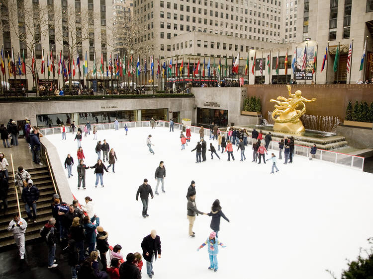 Go ice-skating before the crowds