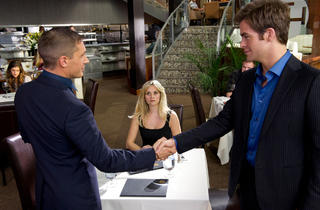 Tom Hardy, left, Reese Witherspoon and Chris Pine in This Means War