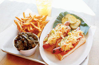 Hot dogs at The Smoke Joint
