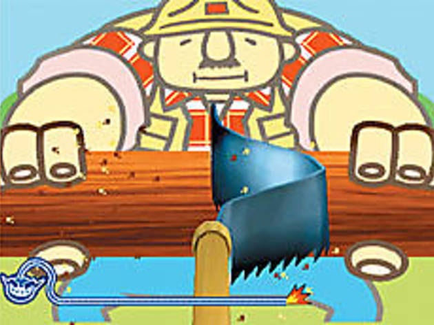 SEE SAW Playing lumberjack is one of the easier challenges in Wario Ware: Smooth Moves.