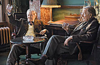 GOLDEN OLDIES O'Toole, left, and Phillips toast to the past.
