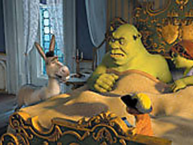FROM BED TO WORSE Shrek and the missus get a rude awakening.