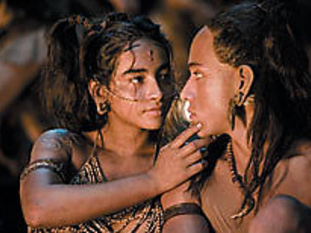 LOVE, MESOAMERICAN STYLE Hernandez, left, and Youngblood profess their devotion.